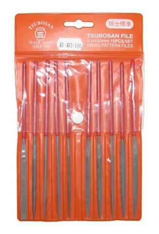 Needle File - Econo Needle 160mm Cut 3 (Set of 10)