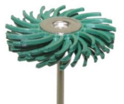Habras Mounted Bristle Discs - Very Coarse Green