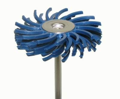 Habras Mounted Bristle Discs - Fine Blue