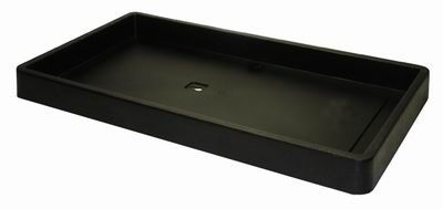 Plastic Tray Only Stackable - Black