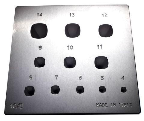 Italian 17 Cushion Setting Plate & Punch 4-14mm