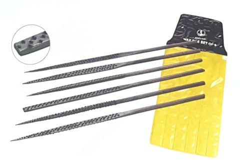 Wax Needle Files - Economy Set of 6