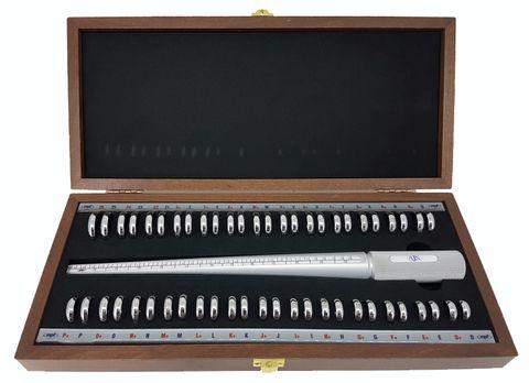 Esca Ring & Finger Gauge Set D-Z+6 Half Sizes