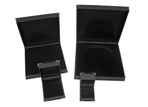 SILVER CORNER BOXES - BLACK