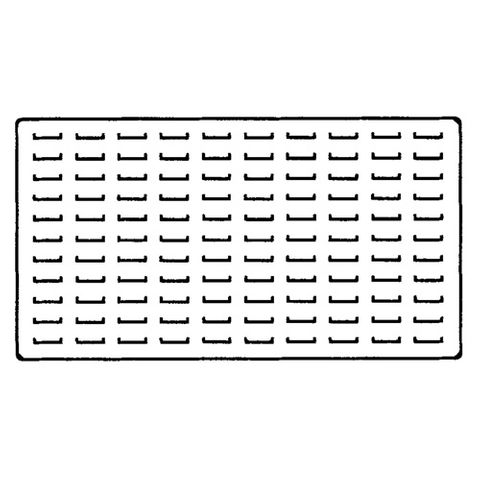 Tray Insert Foam - 110 Ring Slot - Large Black
