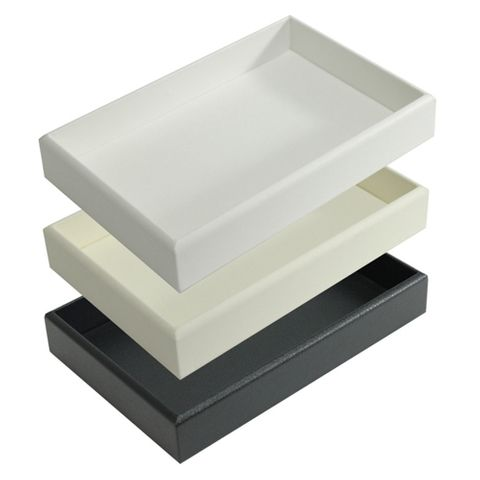 LEATHERETTE TRAY ONLY BLACK 198 X 206 X 34MM