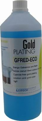 Cyanfree Pink Colour Gold Plating Solution 1L