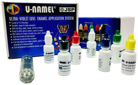 U-Namel Starter Kit - 7 Colours with LED Light