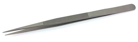 Tweezers - Bright S/Steel - 160mm, 0.6mm Tip