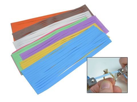 Slurry Coated Polishing Strips - Assorted - Pkt/18