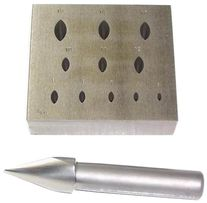 Italian 17 Marquis Setting Plate+Punch 5mm - 15mm
