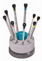 BERGEON ANTI-MAGNETIC SCREWDRIVERS SET 9 + STAND