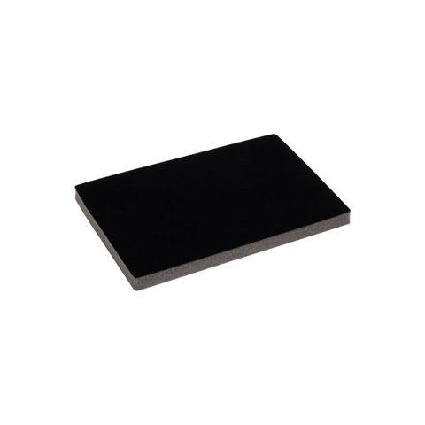 Plain Flock Foam Insert Black 124x190mm