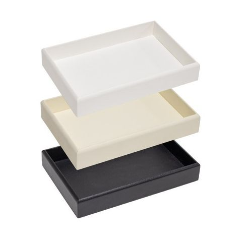 Tray Leatherette - Small Black - 200 x 135 x 35mm