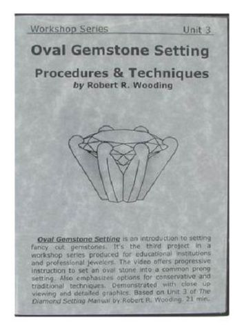 DVD - Oval Gemstone Setting by Robert Wooding