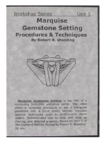 DVD - Marquise Gemstone Setting by Robert Wooding