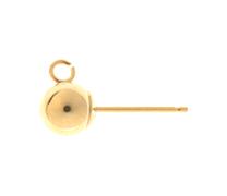 Half Ball & Hook Studs - 9ct White Gold 3mm