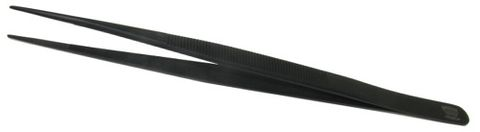 Regine Tweezers - Black S/Steel 160mm, 0.9mm Tip