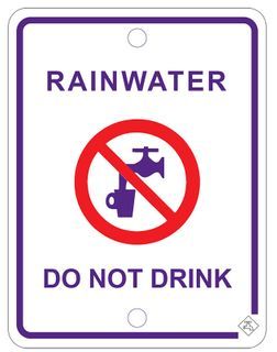 RAINWATER PROHABITION SIGN
