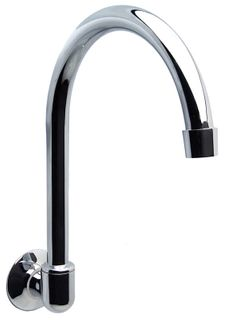 WALL SPOUT CURVED TUBE SWIVEL