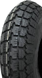 With 410/350-4 Solid Rubber Block Tyre