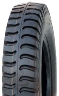 """ASSEMBLY - 4""""x55mm Red Plastic Rim, 250-4 4PR V6606 Tyre, ¾"""" Flange Bearings"""