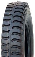 "ASSEMBLY - 4""x55mm Red Plastic Rim, 250-4 4PR V6606 Military Tyre, ¾"" Bushes"