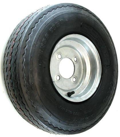 "ASSEMBLY - 8""x3.75"" Galvanised Rim, 4/4"" PCD, 570/500-8 6PR HS Trailer Tyre"