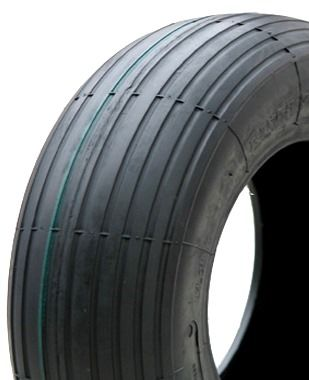 "ASSEMBLY - 6""x65mm Steel Rim, 1"" Plain Bore, 400-6 4PR V5501 Ribbed Barrow Tyre"