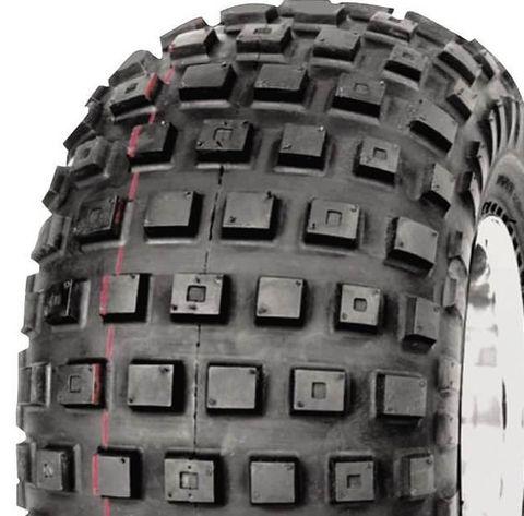 "ASSEMBLY - 9""x8.50"" Galv Rim, 4/4"" PCD, ET-38, 25/12-9 2PR HF240A Knobbly Tyre"