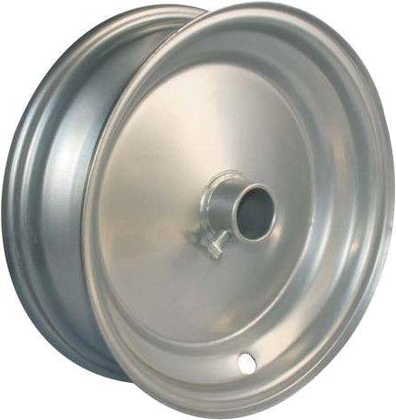"8""x65mm Steel Barrow Rim, 1"" Plain Bore, 75mm Hub Length, Locking Stud"