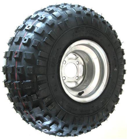 "ASSEMBLY - 9""x8.50"" Galvanised Rim, 4/4"" PCD, ET0, 25/12-9 2PR HF240A Tyre"