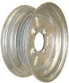 """10""""x4.00"""" Galvanised Rim, 4/4"""" (4/101.6mm) PCD, 68mm Bore, ET0 (10""""x3.50"""")"""