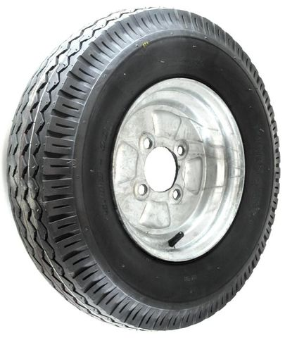 "ASSEMBLY - 10""x4.00"" Galvanised Rim, 4/4"" PCD, 500-10 8PR P802 HS Trailer Tyre"
