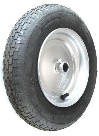"ASSEMBLY - 8""x65mm Steel Rim, 1"" Plain Bore, 300-8 4PR V6635 Block Barrow Tyre"