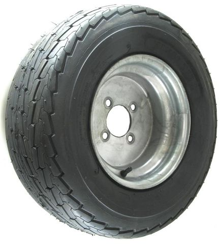 "ASSEMBLY - 10""x6.00"" Galv Rim, 4/4"" PCD, 20.5/8-10 6PR KT705 HS Trailer Tyre"