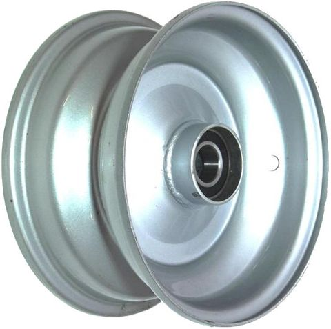 "8""x3.75"" Steel Rim, 52mm Bore, 85mm Hub Length, 52mm x 25mm High Speed Bearings"
