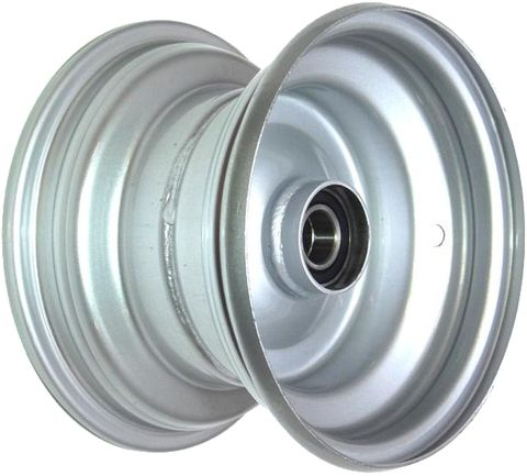 "8""x5.50"" Steel Rim, 52mm Bore, 85mm Hub Length, 52mm x 25mm High Speed Bearings"