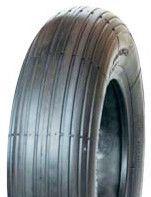 "ASSEMBLY - 6""x65mm Steel Rim, 1"" Plain Bore, 350-6 4PR V5501 Ribbed Barrow Tyre"