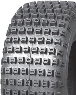 """ASSEMBLY - 8""""x5.50"""" Steel Rim, 20/7-8 4PR P322 Knobbly Tyre, 20mm HS Brgs"""
