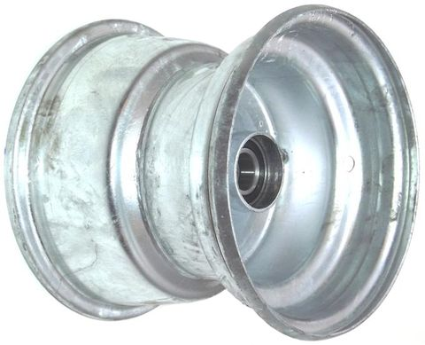 "8""x7.00"" Galv Rim, 52mm Bore, 85mm Hub Length, 52mm x 20mm High Speed Bearings"