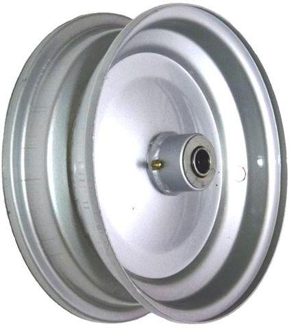 "8""x65mm Steel Rim, 35mm Bore, 76mm Hub Length, 35mm x ¾"" Flange Bearings"