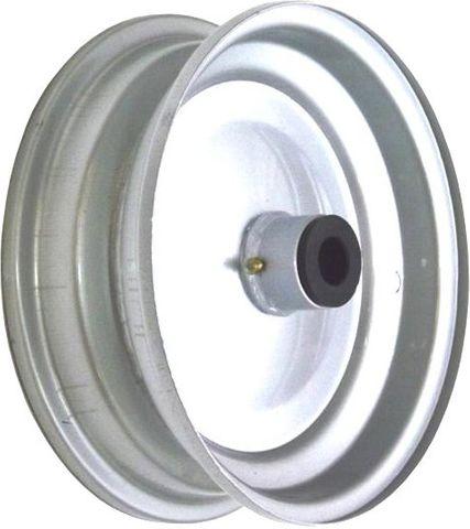 """8""""x65mm Steel Rim, 35mm Bore, 76mm Hub Length, 35mm x 1"""" Nylon Bushes"""