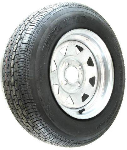 "ASSEMBLY - 12""x4.00"" Galvanised Rim, 4/4"" PCD, 155R12C 8PR 88/86N WR082 LT Tyre"