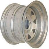 """12""""x7.00"""" Galvanised Rim, 4/4"""" (101.6mm) PCD, 65mm Bore, ET0"""