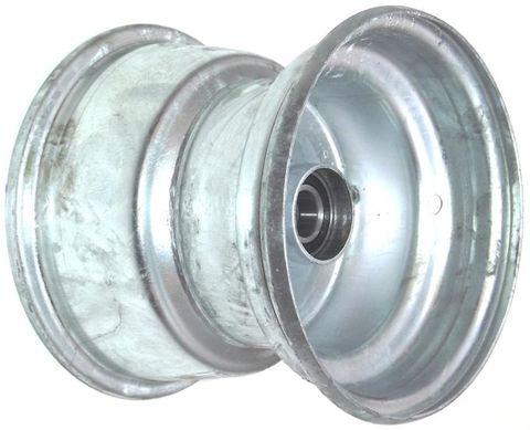 """8""""x7.00"""" Galv Rim, 52mm Bore, 85mm Hub Length, 52mm x 25mm High Speed Bearings"""