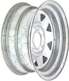 """12""""x5.00"""" Galvanised ATV Rim (Front), 4/4½"""" (4/114.3mm) PCD, 85mm Bore, ET0"""