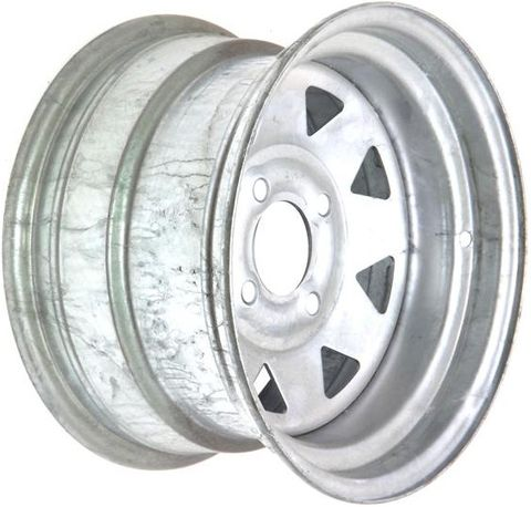 "12""x7.00"" Galvanised ATV Rim (Rear), 4/100mm PCD, 65mm Bore, ET0"