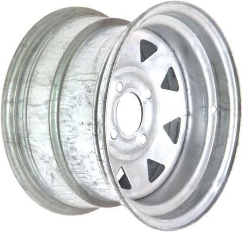 "12""x7.00"" Galvanised ATV Rim (Rear), 4/4½"" (4/114.3mm) PCD, 65mm Bore, ET0"