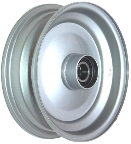 "8""x2.50"" Steel Rim, 52mm Bore, 85mm Hub Length, 52mm x 25mm Keyed & Plain Bushes"
